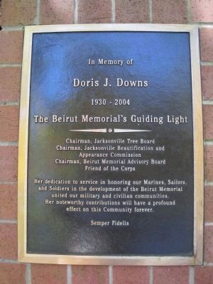 Doris J. Downs Memorial Plaque image. Click for full size.