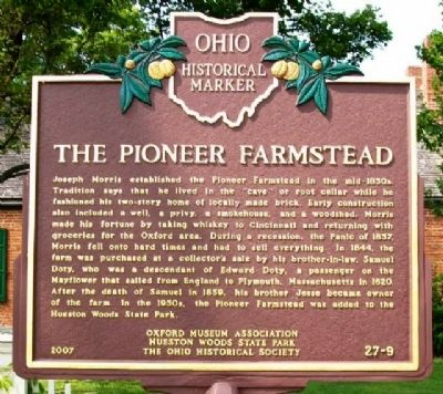 The Pioneer Farmstead Marker (Side B) image. Click for full size.