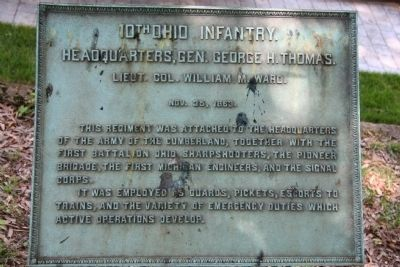 10th Ohio Infantry. Marker image. Click for full size.