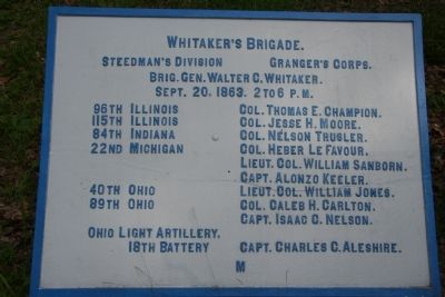 Whitaker's Brigade. Marker image. Click for full size.