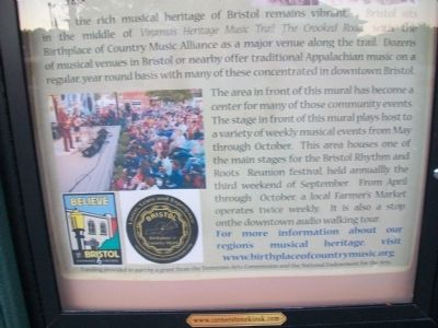 Historic Downtown Bristol Marker image. Click for full size.