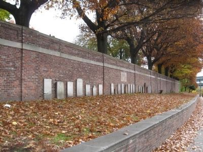 Headstones Along the Wall image. Click for full size.
