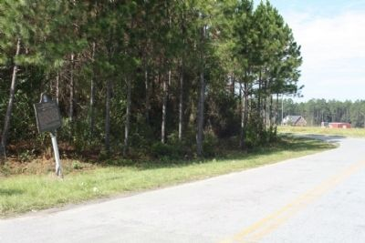 Providence Or Camp Creek Church Marker looking along Jim Mixon Road image. Click for full size.
