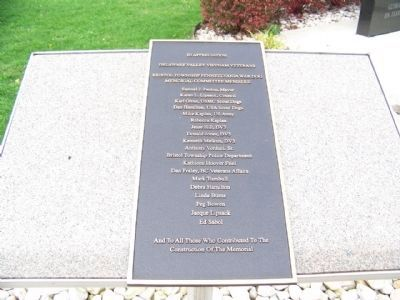 Names of the fallen Soldiers - Bristol Township, PA image. Click for full size.