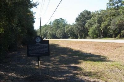 Ashantilly Marker, looking south along Ridge Road (State Road 99) image. Click for full size.