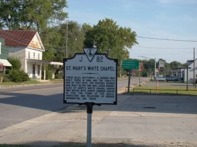 St. Mary's White Chapel Marker image. Click for full size.
