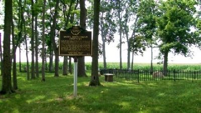 The Restoration Movement / Doty Settlement Cemetery Marker image. Click for full size.