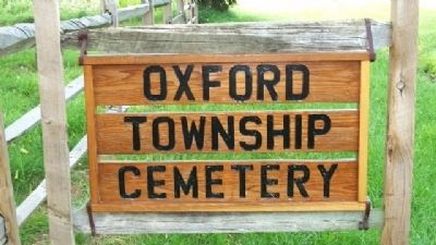 Oxford Township Cemetery Sign image. Click for full size.