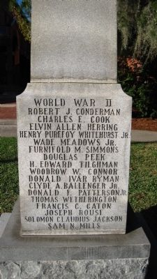 Craven County World War II Memorial Marker image. Click for full size.