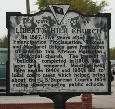 Liberty Hill Church Marker image. Click for full size.