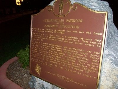 Overmountain Patriots of the American Revolution Marker image. Click for full size.