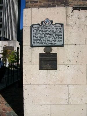Downtown Presbyterian Church Marker image. Click for full size.