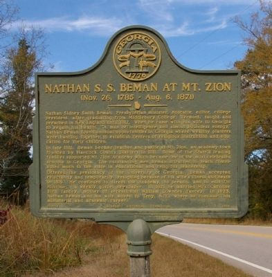 Nathan S.S. Beman at Mt. Zion Marker image. Click for full size.
