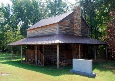 Birthplace Marker and Hendrix Cabin image. Click for full size.