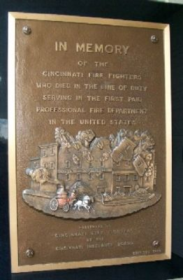Cincinnati Fire Fighters Marker image. Click for full size.