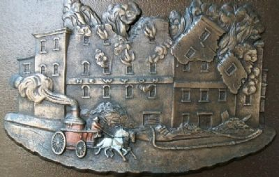 Cincinnati Fire Fighters Marker Relief image. Click for full size.