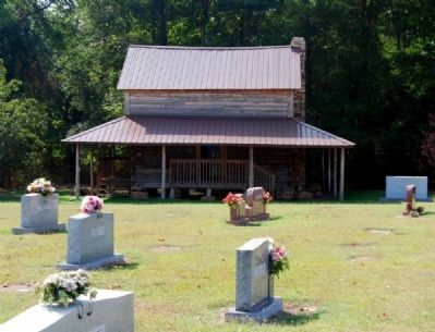 Hendrix Cabin -<br>Home of Abner Creek Baptist Church image. Click for full size.