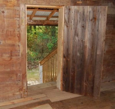 Hendrix Cabin -<br>Interior, Rear Entrance image. Click for full size.