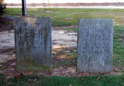 William (Left) & Sarah (Right) Hendrix Tombstones -<br>Located Adjacent to the Cabin image. Click for full size.
