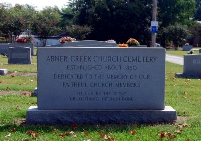 Abner Creek Baptist Church Cemetery Marker image. Click for full size.