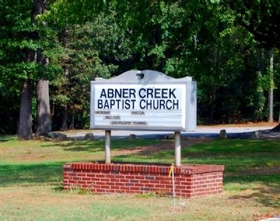Abner Creek Baptist Church Sign image. Click for full size.