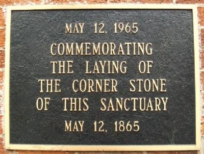 Plum Street Temple Cornerstone Marker image. Click for full size.