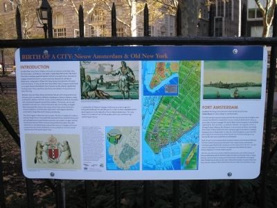 Fort Amsterdam Marker image. Click for full size.