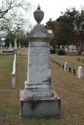 South Carolina Generals Memorial , continued on second cenotaph, coordinates:32.81574,-79.94406 image. Click for full size.