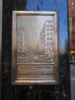 Broadway – Maiden Lane Marker image. Click for full size.
