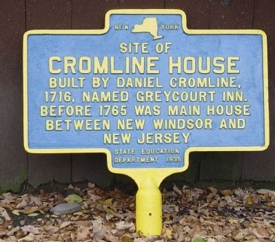 Repainted Site of Cromline House Marker image. Click for full size.