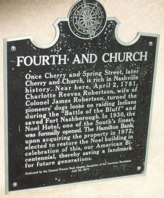 Fourth and Church Marker image. Click for full size.