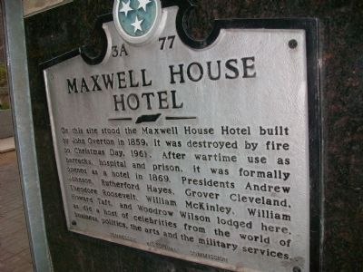 Maxwell House Hotel Marker image. Click for full size.