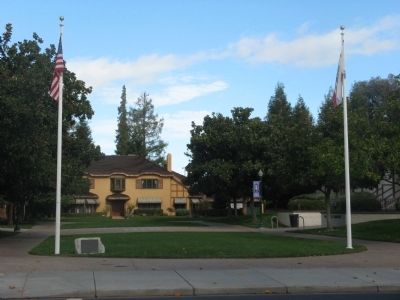 9/11 Memorial Flags and Ainsley House image. Click for full size.