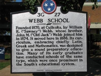 The Webb School Marker image. Click for full size.