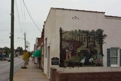 Wagon Travel Marker and Mural image. Click for full size.