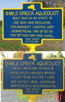 9 Mile Creek Aqueduct Marker image. Click for full size.