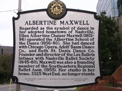 Albertine Maxwell Marker image. Click for full size.