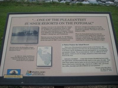 """...one of the pleasantest summer resorts on the Potomac"" Marker image. Click for full size."