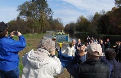 9 Mile Creek Aqueduct Marker Dedication image. Click for full size.