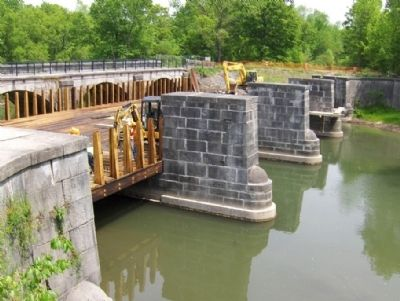 9 Mile Creek Aqueduct, 2009 - Amid Restoration image. Click for full size.