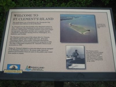 Welcome to St. Clement's Island Marker image. Click for full size.
