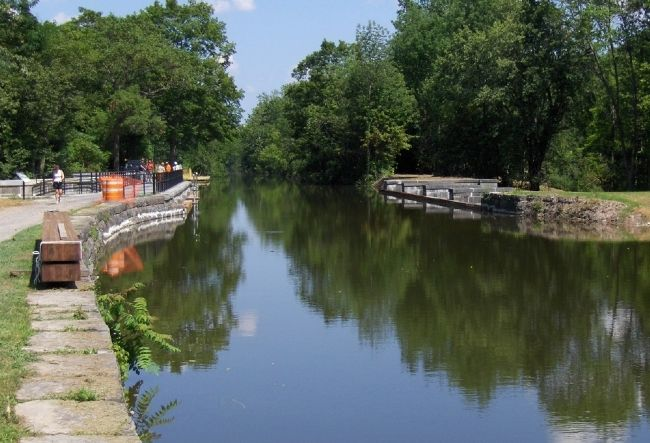 9 Mile Creek Aqueduct, 2009 - Fully Restored and Open Waterway image. Click for full size.