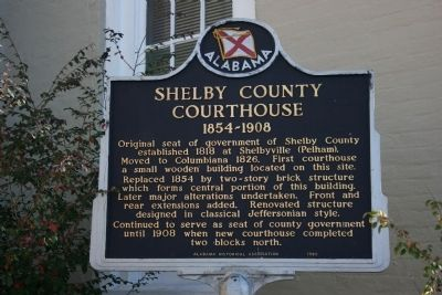 Shelby County Courthouse Marker image. Click for full size.