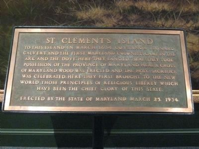 Another St. Clement's Island Marker image. Click for full size.