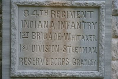 84th Indiana Infantry Regiment Marker image. Click for full size.