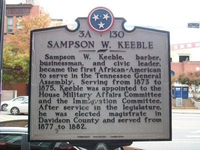 Sampson W. Keeble Marker image. Click for full size.
