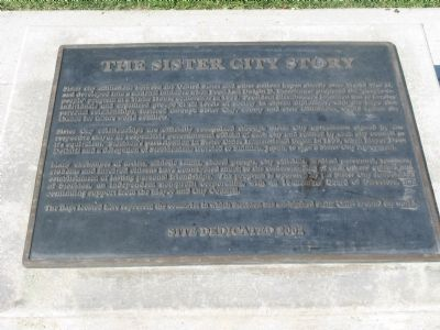 The Sister City Story Marker image. Click for full size.