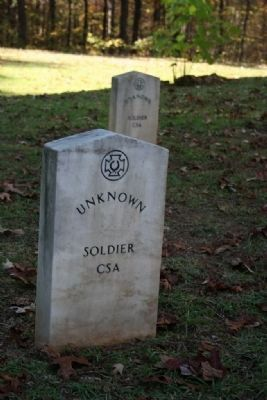 Grave Site Of Unknown CSA Soldier image. Click for full size.