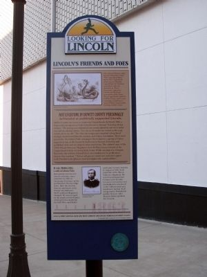 Full View - - Lincoln's Friends and Foes Marker image. Click for full size.