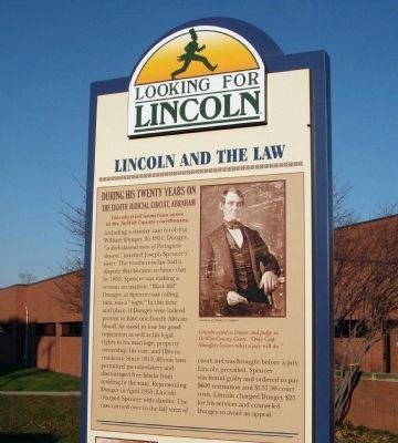 Top Section - - Lincoln and The Law Marker image. Click for full size.
